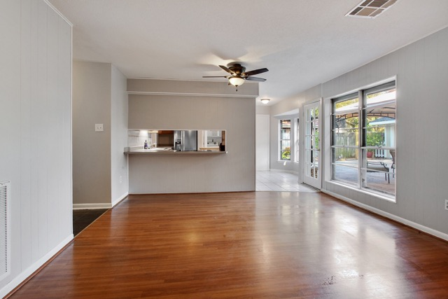 Dining or Living Room looking to kitchen & Outdoors